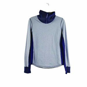 Under Armour Womens Blue Heat Gear Turtle Neck Pullover Activewear Top Size S
